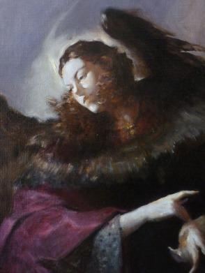JA06 - FIGURE DU PARNASSE ANGELIQUE / 50 x 40 huile sur toile / 800 €