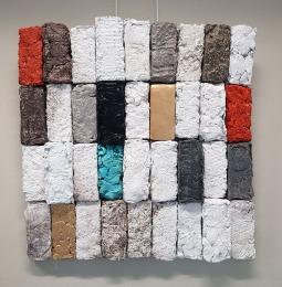 FRAGMENTS / Collage sculptural, papier compressé / 80 X 80 / 1200 €