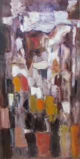COEUR ILLUMINE / Huile sur toile / 120 X 60 / 1500 €