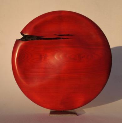 SANS TITRE 3 / Frêne brûlé - teinté / diamètre 40 cm / VENDU