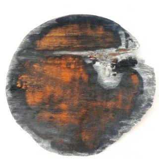 SANS TITRE 4 / Acajou et verre / diamètre 66 cm / 900 €