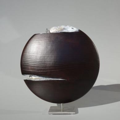 SANS TITRE 2 / Merisier oxydé / diamètre 25 cm / 500 €