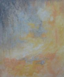 BOREALE / Huile sur toile / 100 X 80 / 1700 € Teintes pastel, frondaisons qui glissent sur la toile comme le souvenir lointain des nymphéas de Monet.