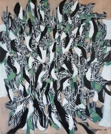 L'OLIVIER / Acrylique sur toile / 46 X 38 / 680 €